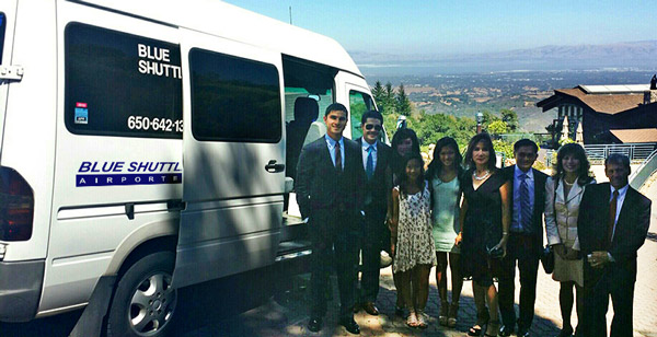 Wedding trip in Bay Area, provided by Blue Shuttle
